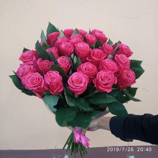 Букет 29 малиновых роз