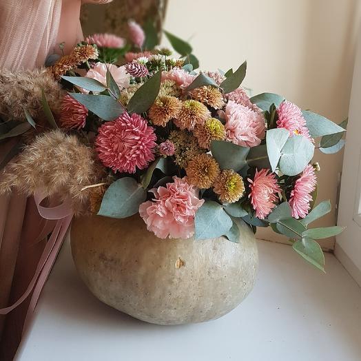 Осення тыква: букеты цветов на заказ Flowwow