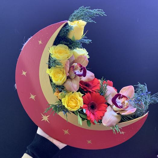 Полная луна: букеты цветов на заказ Flowwow