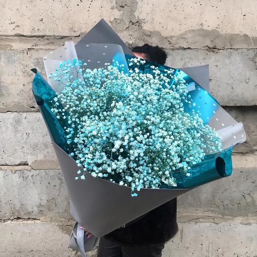 """Букет """"Гигант"""" из гипсофилы: букеты цветов на заказ Flowwow"""