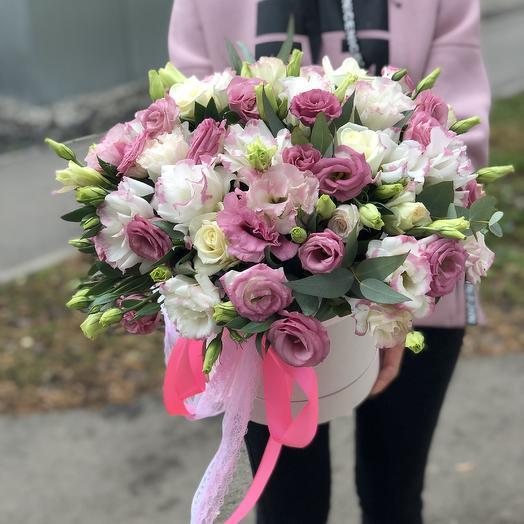 Нежная шляпная: букеты цветов на заказ Flowwow