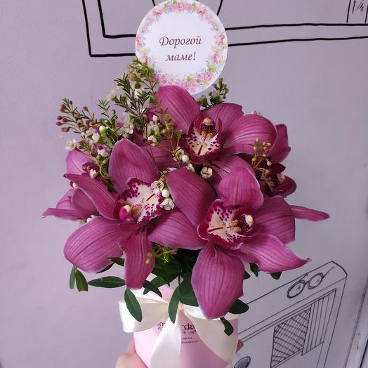 Яркие орхидеи: букеты цветов на заказ Flowwow