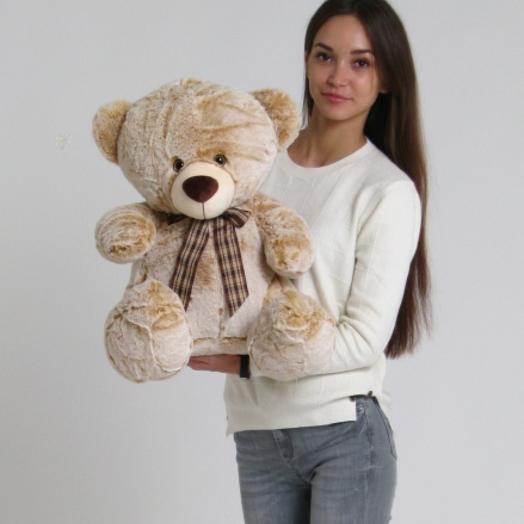 Медведь с бантом 60 см