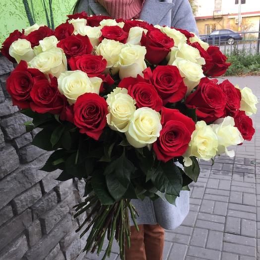 Букет из 55 роз (80см)