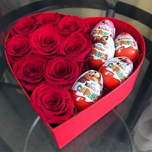 Розы в коробке 1