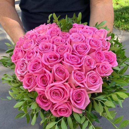 Сердце роз аква