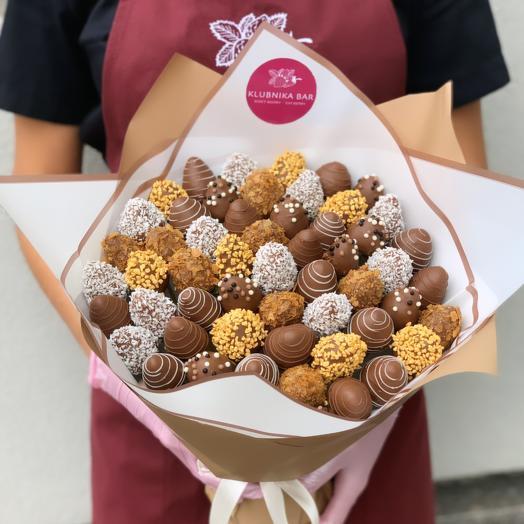 Большой букет из клубники в бельгийском шоколаде