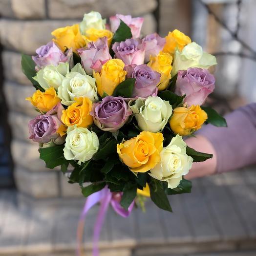 Букет микс из 25 роз