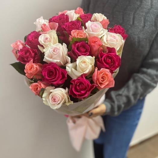 Розы микс 29шт