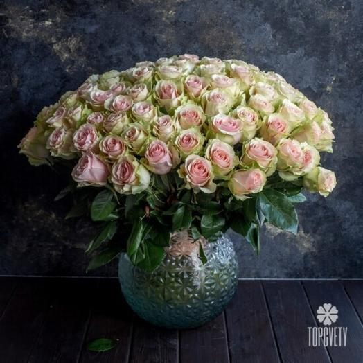 51шт Роза нежно розовая