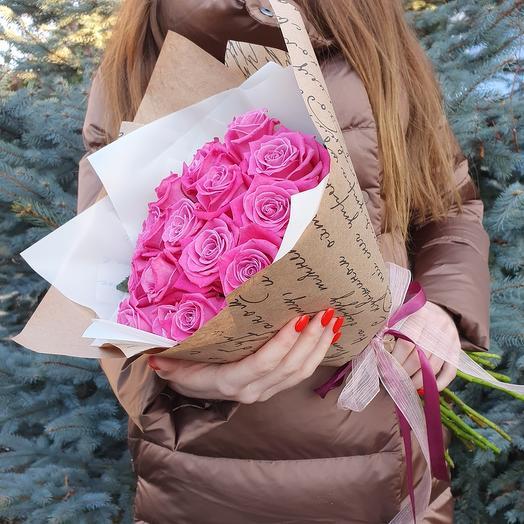Монобукет из 15 роз