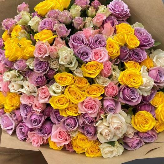 Кустовая Роза 51 штука