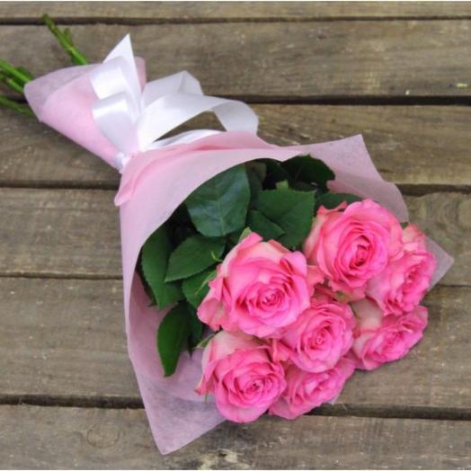 Букет из розовых роз 2