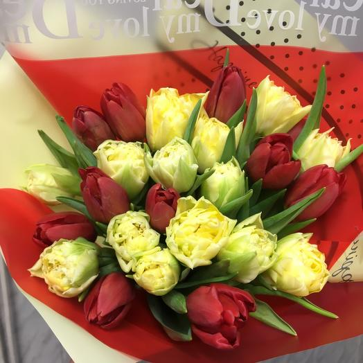 Букет 25 Тюльпанов