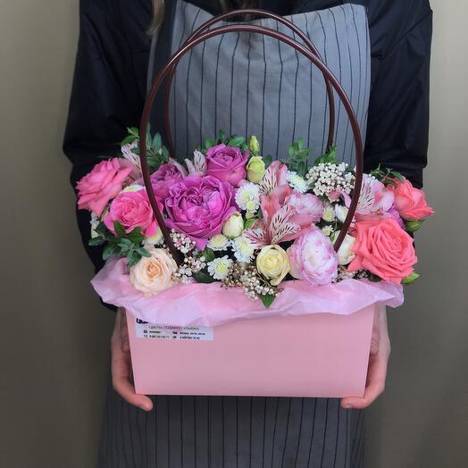 Сумочка с цветами «Розовая»