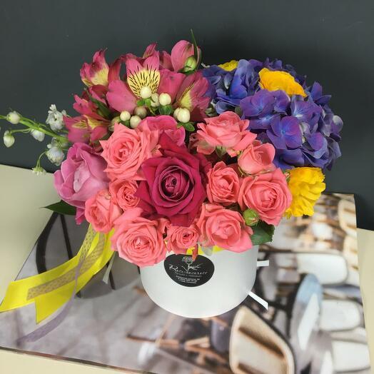 Цилиндр с цветами 69