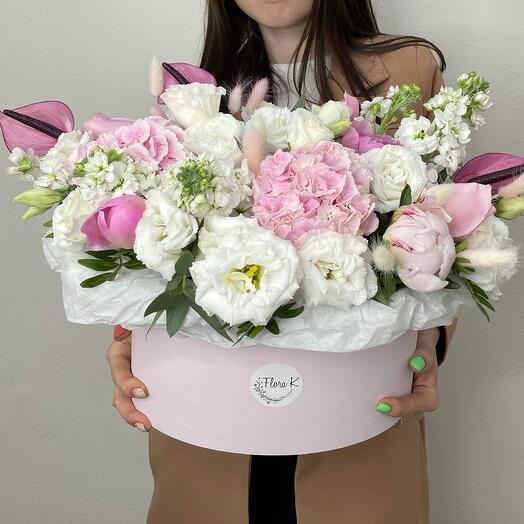 Цветы в коробке «Планета»