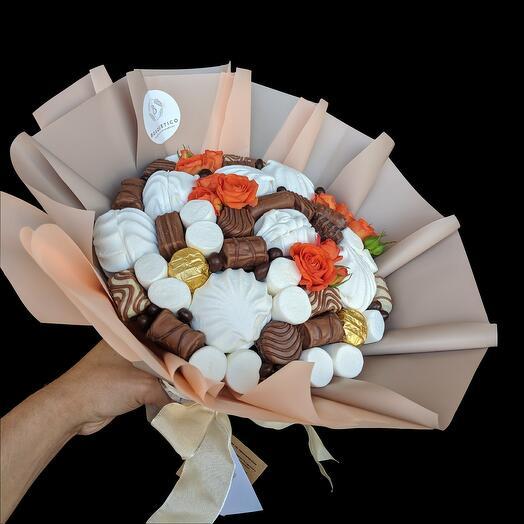 Шоколадно-зефирный букет