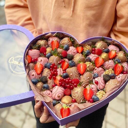 Набор сердца 💕 из 45 клубник в шоколаде