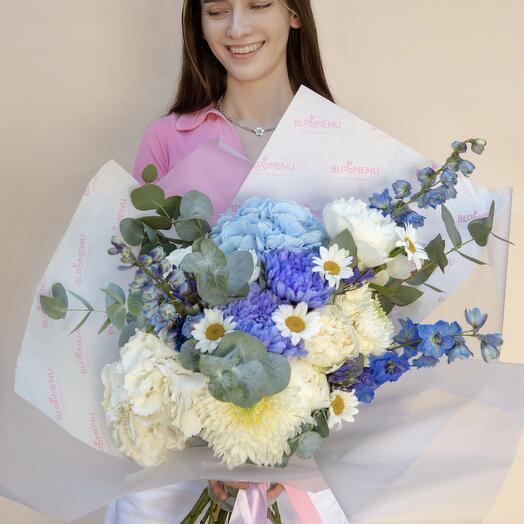 Букет Royal с хризантемой