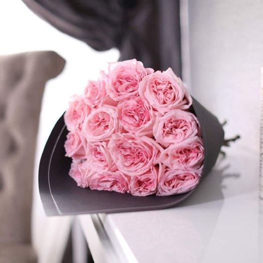 Букет из 15 роз Pink O Hara