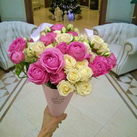 Розовая симфония: букеты цветов на заказ Flowwow