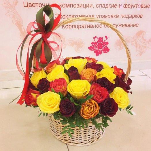 Корзина самоцветов: букеты цветов на заказ Flowwow