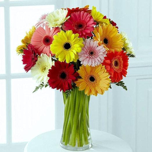 Яркий день (Букет из 25 гербер): букеты цветов на заказ Flowwow