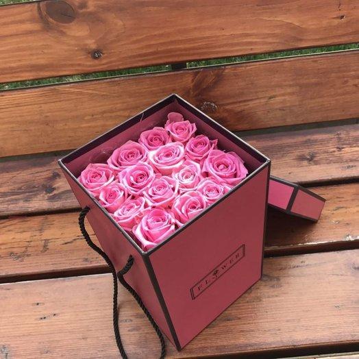 15 роз в квадратной коробке: букеты цветов на заказ Flowwow
