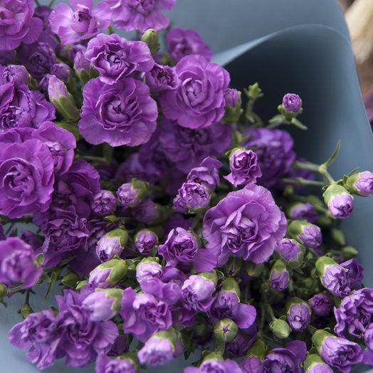 Лунная кустовая гвоздика - высокий букет.: букеты цветов на заказ Flowwow