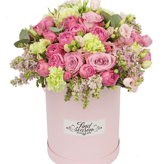 "Шляпная коробка ""История любви"": букеты цветов на заказ Flowwow"