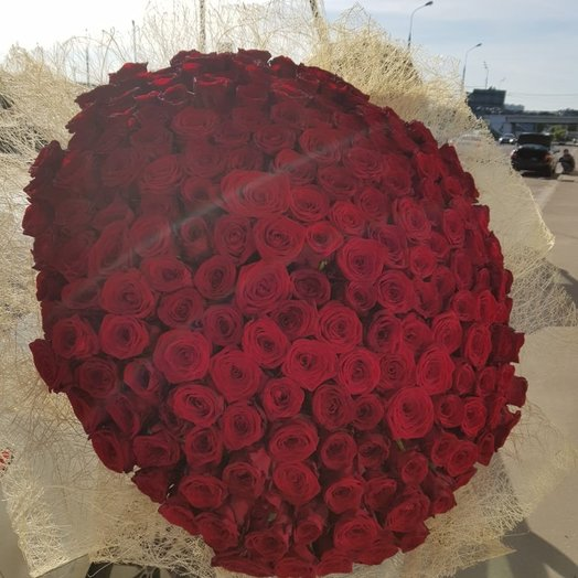 Букет из 201 розы 70 см: букеты цветов на заказ Flowwow