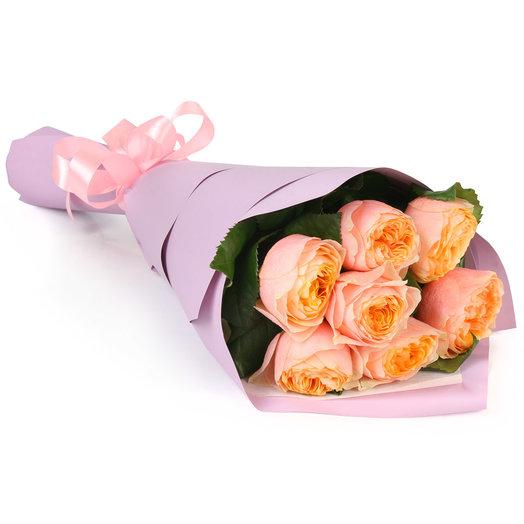Букет из 7 пионовидных роз: букеты цветов на заказ Flowwow