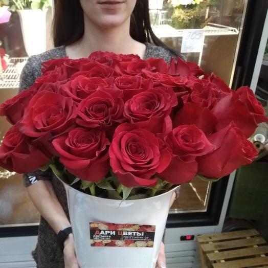 Красные розы эквадор Freedom: букеты цветов на заказ Flowwow