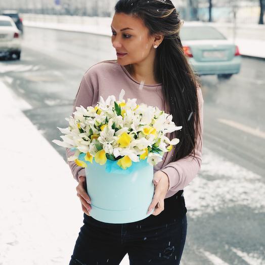 Весеннее настроение зимой: букеты цветов на заказ Flowwow