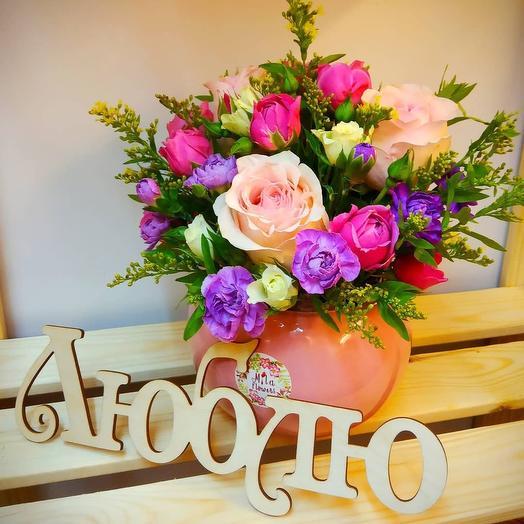 Композиция в горшочке: букеты цветов на заказ Flowwow