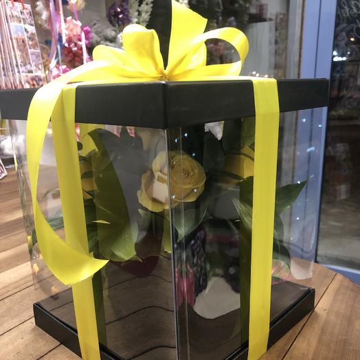 Коробка-ваза: букеты цветов на заказ Flowwow