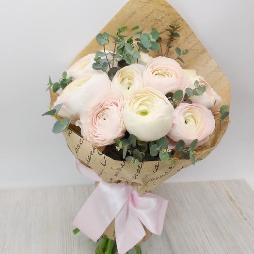 Букет с ранункулюсами: букеты цветов на заказ Flowwow