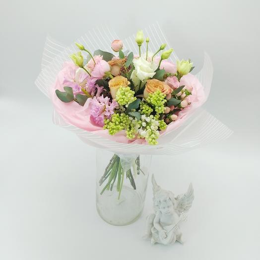 Букет с розой Капучино: букеты цветов на заказ Flowwow