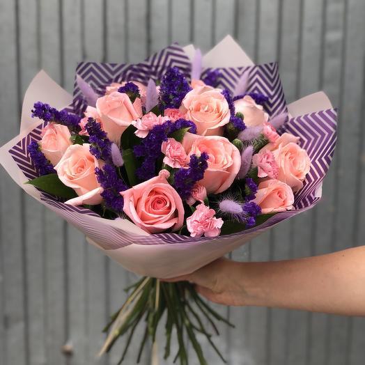 Букет из 11 Розовых роз: букеты цветов на заказ Flowwow