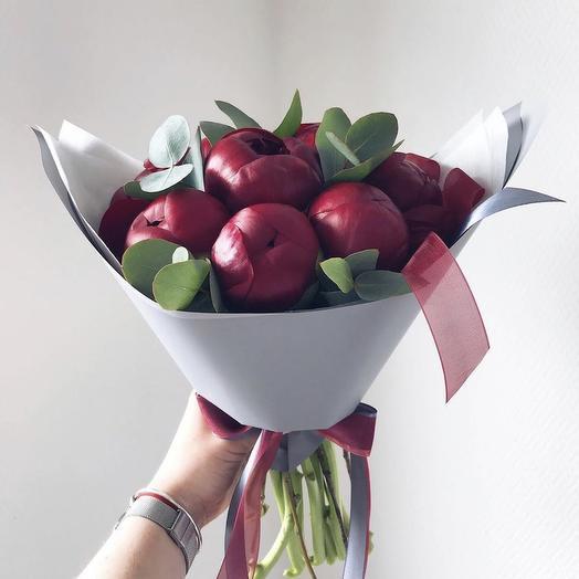 Бордовое счастье: букеты цветов на заказ Flowwow