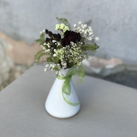Комплимент из сухоцветов: букеты цветов на заказ Flowwow