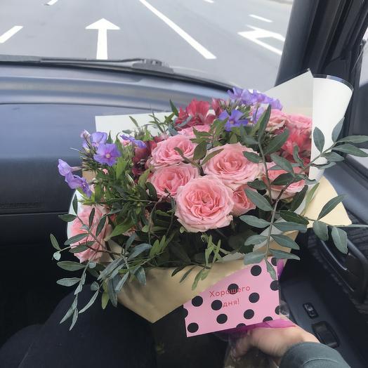 Из розовых роз: букеты цветов на заказ Flowwow