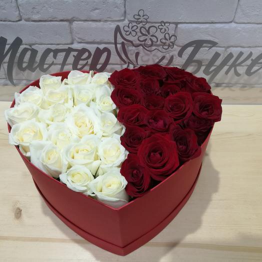 Коробка Инь-Янь: букеты цветов на заказ Flowwow