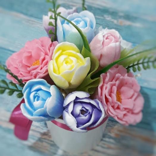 Мыльная радость: букеты цветов на заказ Flowwow