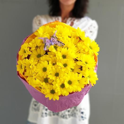 Яркий букет из хризантем 1 сентября: букеты цветов на заказ Flowwow