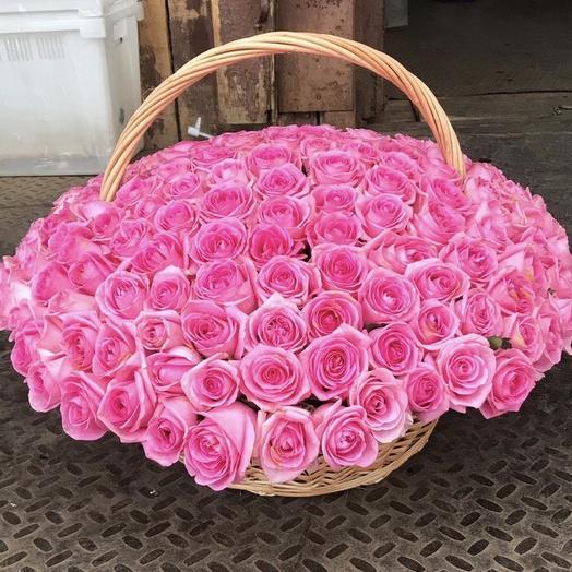 Корзина романтика: букеты цветов на заказ Flowwow