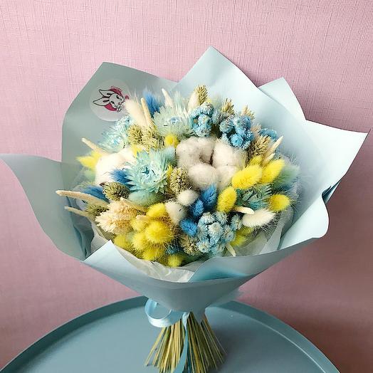 """7 """"Лимонный и бирюза"""" (S): букеты цветов на заказ Flowwow"""