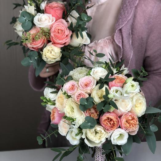 Букет для невесты Персиковый