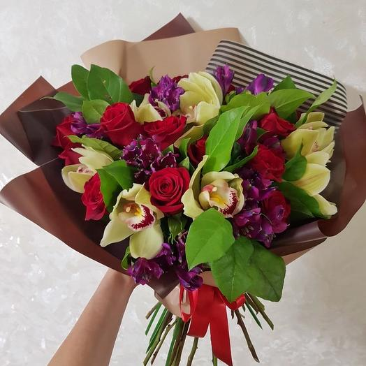 Букет стиляга: букеты цветов на заказ Flowwow
